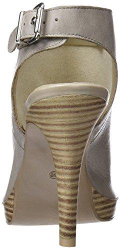 Zapatos Abierta Grigio para Bata Mujer Tacón 724187 Gris con de Punta 2 pRq5xOY