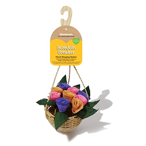 Floral Hanging Basket - Pet Bird Toy