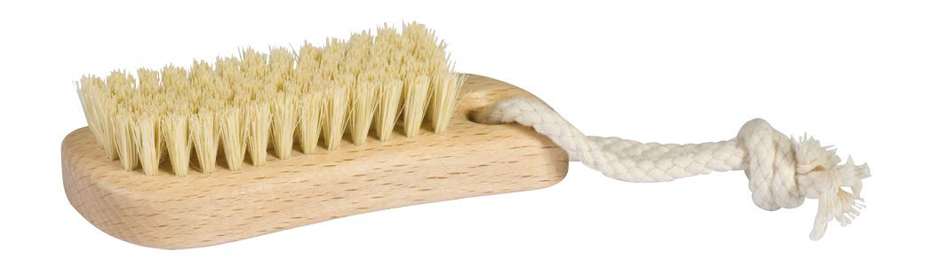 Redecker Tampico Fiber Nail Brush with Waxed Beechwood Handle, 4-1/4-Inches