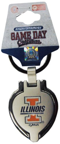 NCAA Illinois Fighting Illini Keychain Metal Heart ()