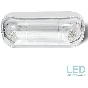Etoplighting Led Hardwired Outdoor Indoor Emergency Light Wet Damp Listed Energy Saving Led Beads Durable Body Material Minimal Maintenance Agg2281