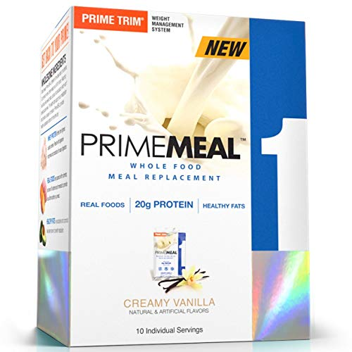 (Complete Nutrition Prime Meal, Creamy Vanilla, Meal Replacement, Whey Protein Powder, Weight Management, 10 Individual Packets)