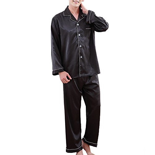 Jual ZUEVI Men s Classic Silk Pajamas Set Sleepwear - Sleep Sets ... 227a39583