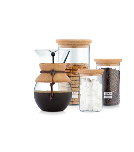 Bodum 11592-01 Pour Over Coffee Maker with Permanent Filter, 17 oz, Black