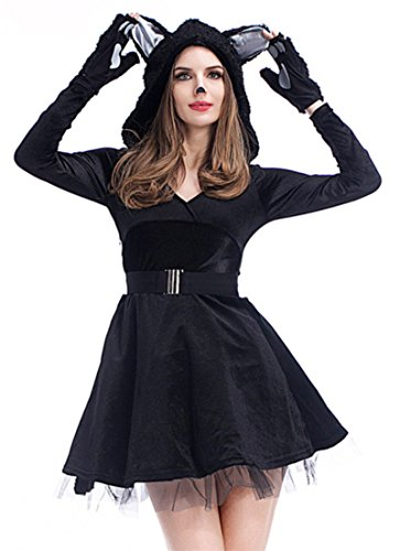 Joygown Halloween up Cat Dress Hooded Women's Cute Outfits Fancy H1qBrH
