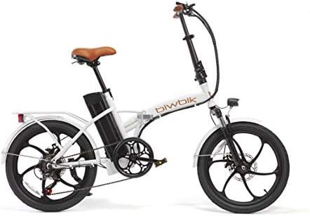 BIWBIK Bicicleta ELECTRICA Plegable Book (Book Sport Blanca ...