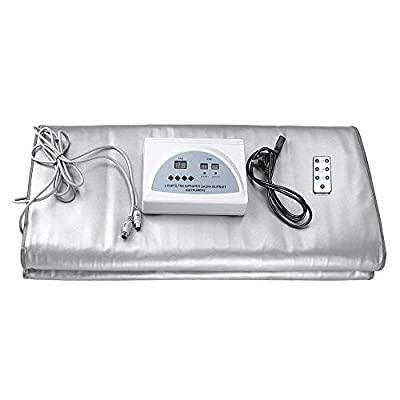 GJCrafts Digital Far-Infrared (FIR) Heat Sauna Blanket 2 Zone Controller to Reduce Weight Thin Body Home Beauty