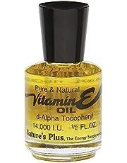 NaturesPlus Vitamin E Oil - 14,000 IU.5 fl oz - Moisturizes Face and Skin, Reduces Brown Spots, Strengthens Nails, Promotes Hair Growth, Antioxidant, Anti-Aging - Vegan