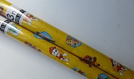 2 X Rolls Paw Patrol Gift Wrap Wrapping Paper Christmas Birthday