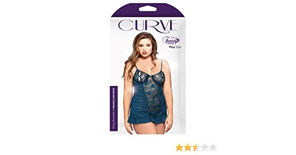 d82057110cd Amazon.com  Full Figure Sexy Floral Lace Chemise Lingerie  Clothing