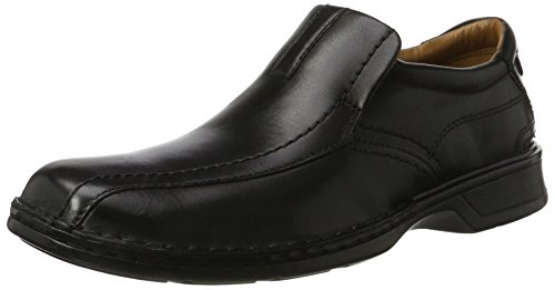 Negro black Escalade Step Para Leather Mocasines Hombre Clarks wnXg6YvSqv