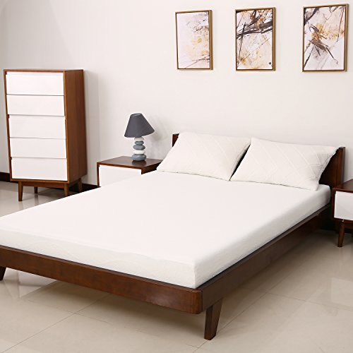 6' Mattress (MEWE 6'' Queen Size Gel Memory Foam Mattress Dual-Layered Bed Mattress with Removable Cover -QUEEN Type(80