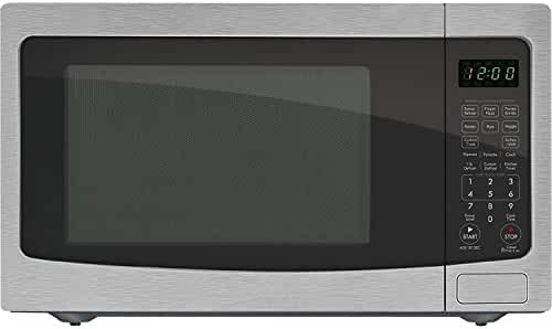 Chef Star CS73163 1.6 cu.ft. 1100-watts Countertop Microwave Stainless Steel w/ Black Cabinet (Certified Refurbished)