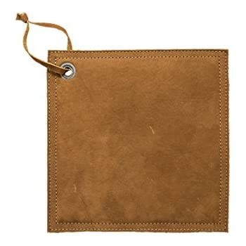 Hide & Drink Leather Hot Pot Pad (Potholder), Double Layered, Double Stitched and Handmade Swayze Suede