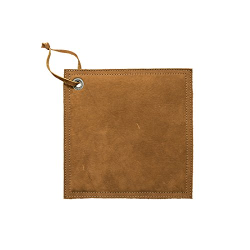 Leather Hot Pot Pad (Potholder), Double Layered, Double Stitched and Handmade by Hide & Drink :: Swayze Suede by Hide & Drink