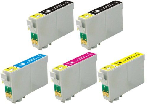 5 Pack Elite Supplies ® Remanufactured Inkjet Cartridge Replacement for #60 T060 T0601, Epson T060120 T060220 T060320 T060420 Works Epson Stylus C68, Stylus C88, Stylus C88Plus, Stylus CX3800, Stylus CX3810, Stylus CX4200, Stylus CX4800, Stylus CX5800F,