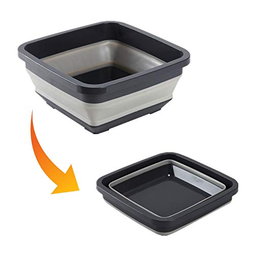 Collapsible Dish Tub Folding Washbasin Portable Lightweight Washing Basin Foldable Plastic Washtub BPA-Free Washbowl for Home Camping Outdoor Kitchen BBQ by Fantasyshop