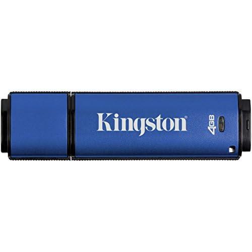 Kingston Digital 4GB Data Traveler AES Encrypted Vault Privacy 256Bit 3.0 USB Flash Drive with ESET AV (DTVP30AV/4GB)