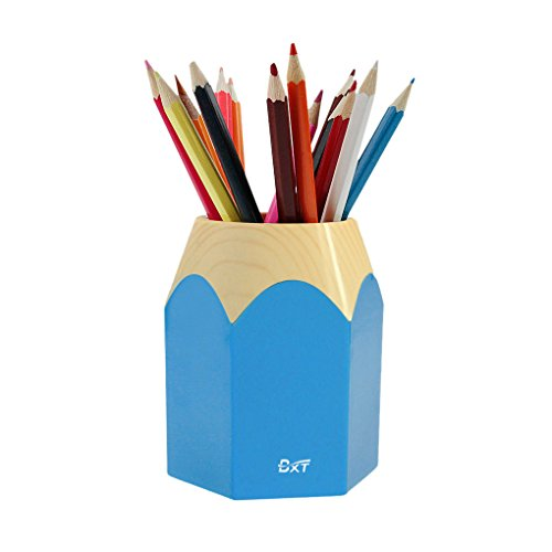 Pencil Stub Shape Plastic Pen Holder Cup Stand Pencil Pot Holder Container Organizer for Pens,Utensils,Office Supplies Caddy,Multipurpose Cosmetic Brush Organizer for ()