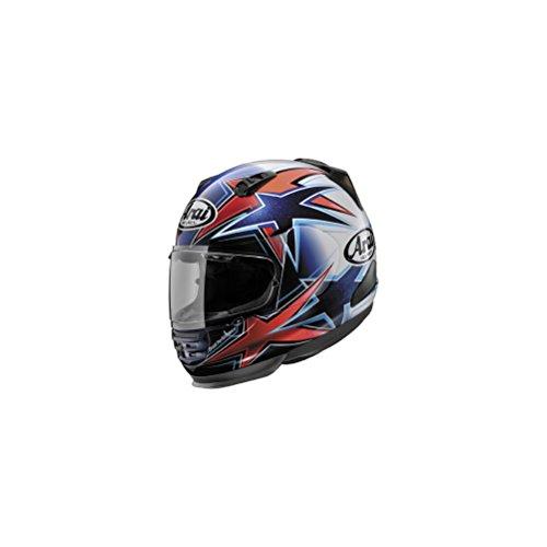 Arai Helmets Shield Cover Set for Defiant Helmet - Asteroid Red/Blue 5169 ()