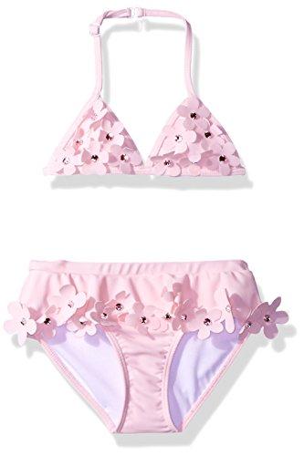 Kate Mack Little Girls' Dainty Daisies Skirted Bikini Swimsuit, Pink, 6 - Kate Mack Daisy