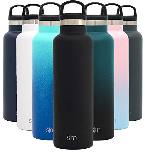 Simple Modern ASC-20-BK 20oz Ascent Water Bottle-Hydro Vacuum Insulated Tumbler
