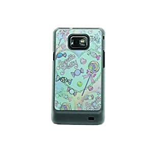 LZX Love Snacks Leather Vein Pattern Hard Case for Samsung Galaxy S2 I9100