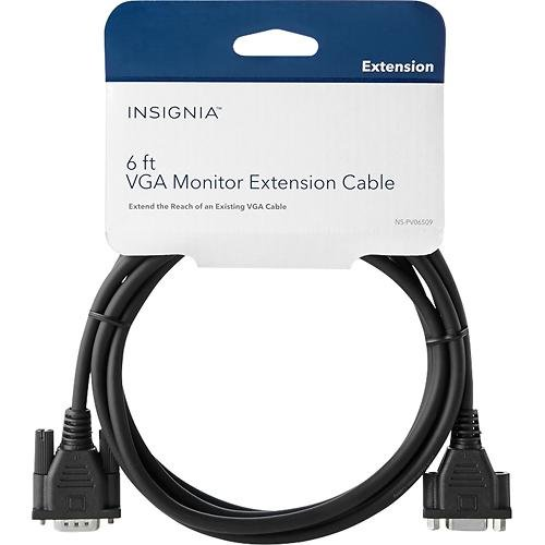 InsigniaTM - 6' VGA Pc Monitor Extension Cable - Black ()