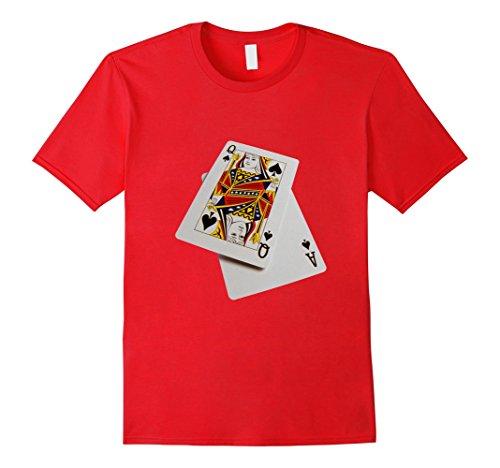 Men S Blackjack T Shirt Aces Queen 21 Casino Gamble Chips Bet 2xl