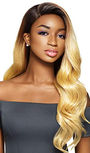 - OUTRE HUMAN HAIR BLEND LACE FRONT WIG & PLAY 13X4 LACE FRONTAL WIG DASHA - 1B