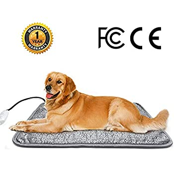 HYDGOOHO Dog Heating Pad 27.9x17.7inch Letter Electric Waterproof Heated Pet Mat for Indoor Dogs Cats Pets with Chew Resistant Steel Cord