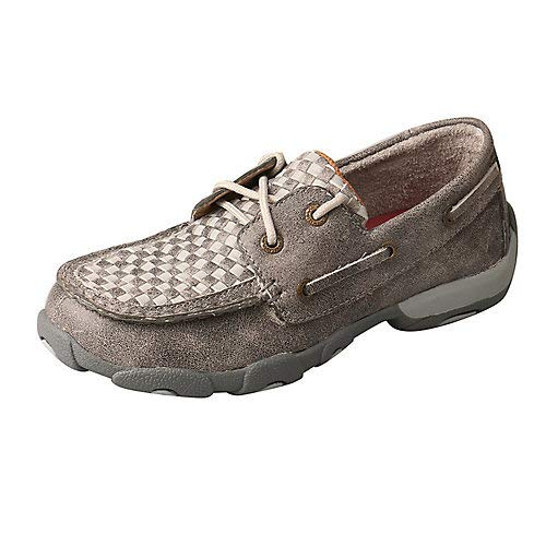 Twisted X Kids Driving Moccasins Gray 2M