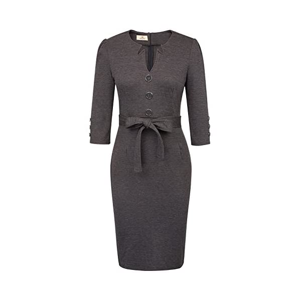 Kerrian Online Fashions 41aDGt3C%2BJL GRACE KARIN Women Retro 3/4 Sleeve Work Office Business Pencil Dress with Belt