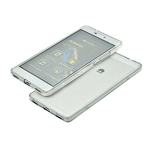 Vandot 1x Exclusivo Airbag 0.7mm Case ultra fina delgada prueba de golpes transparente TPU para Huawei P8 5.2 pulgadas caso de la piel suave del gel cristalino claro silicona cubierta del protector de QBTPU 05