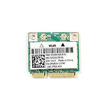 Dell Dw 1510 AGN Half Bcm4322 Dual-band N Pci-e Card 802.11a/b/g/n (B009VX418E) | Amazon price tracker / tracking, Amazon price history charts, Amazon price watches, Amazon price drop alerts