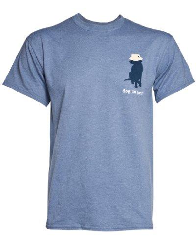 """Never Fish Alone"" Dog Themed Men's/Unisex T-shirt"