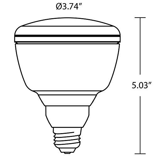 90+ CRI Warm White LED Light Bulb 65 Watt Replacement BR30 Dimmable E26 Edison Base 4 pack