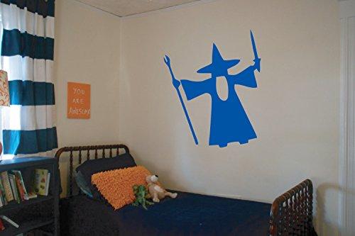 43SabrinaGill Bearded Wizard Wall Decal Halloween Wall Decals Vinyl Sticker Nursery Bedroom Kitchen Home Decor 24