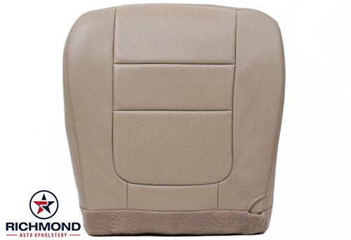 2001 Ford F-250 Lariat Crew-Cab Perforated Driver Side Bottom Replacement Leather Seat Cover, Tan (Cab Leather)