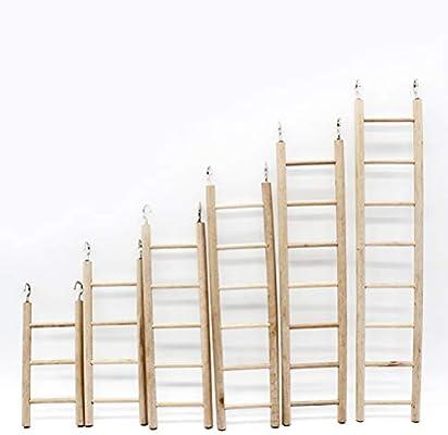 Un Loro Natural práctico,Columpio Escalera de Madera Columpio Perico Escalera de Mascota Juguete: Amazon.es: Juguetes y juegos