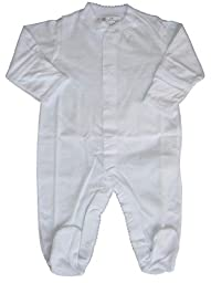 Kissy Kissy Baby Signature Footie-White-0-3 Months