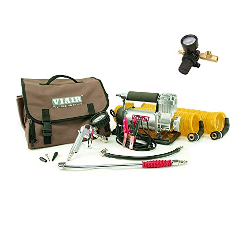 VIAIR 400P-RV Automatic Portable Air Compressor Kit & Tank Pressure Regulator For Sale