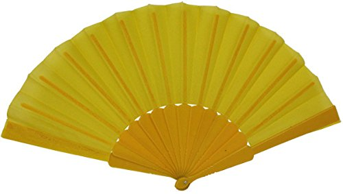 yellow folding fan - 7