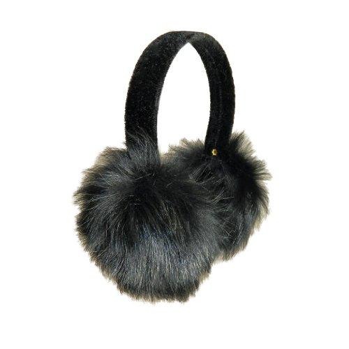 Surell Accessories Toscana Sheepskin Earmuffs on Velvet Band