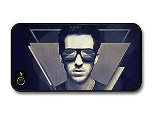 AMAF ? Accessories Calvin Harris Portrait with Sunglasses Blue Illustration case for iPhone 4 4S