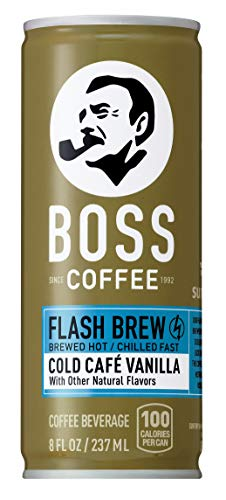 (BOSS COFFEE by Suntory - Japanese Coffee Drink with Milk - Imported Coffee - Flash Brewed - Gluten Free. (Vanilla) (8 oz) (Pack of 12))
