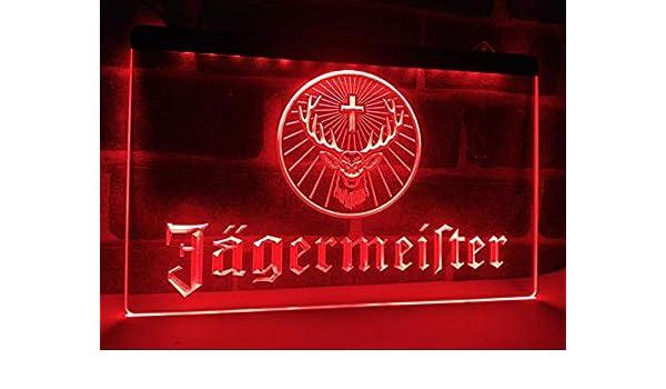 Cartel de neón LED con Nombre de Licor de Hierbas alemán ...