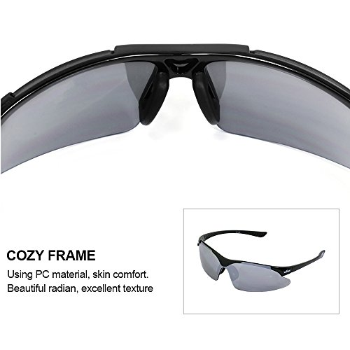 841976c5f0 WIKISH Sunglasses for Men Women Casual Sports Cycling Running Fishing  Driving Riding Baseball Golf Glasses