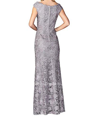 Langes Brautmutterkleider Abendkleider Elegant Damen Spitze Abschlussballkleider Promkleider Charmant Lila AUfwFqBxTT