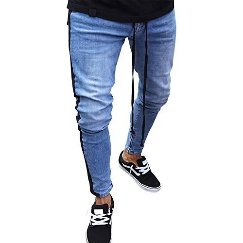 Del Purebesi Ginocchio Zipper Piccoli Cerniera Piedi Tendenza Skinny Mens Jeans Dark Slim Uomo Da Scoppio Blue10 Buco qwp1BqTx